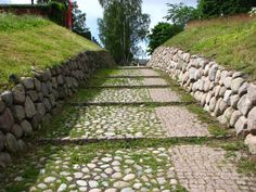 Lappeenranta castle area. Stonemade road.