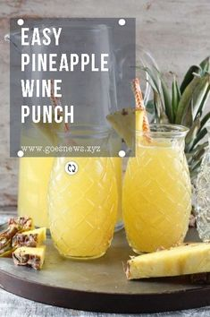 Easy Pineapple Wine Punch is a delicious party drink for any occasion. Just 4 ingredients go into this easy wine punch and it will instantly transport you to a tropical frame of mind!