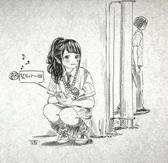 Anime Art Girl, Manga Art, Manga Anime, Ink Illustrations, Illustration Art, Storyboard Drawing, Character Art, Character Design, Manga Drawing Tutorials