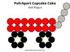 Over 200 Free pull-apart cupcake cake templates Cupcake Cake Designs, Cake Decorating Designs, Wilton Cake Decorating, Cake Decorating Techniques, Cookie Decorating, Cupcake Cakes, Cupcake Ideas, Decorating Ideas, Cupcake Template