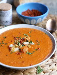 #recette #Soupe de #lentilles corail au #chorizo