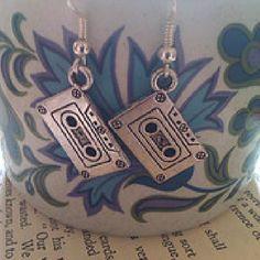 Retro Cassette Earrings.