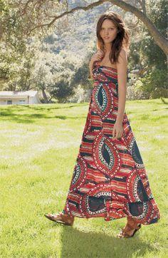 Maxi dress....<3 the pattern