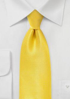 Mens Textured Tie in Proper Yellow