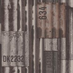 STAALPLATEN BEHANG - Dutch Kaleidoscope J875-08