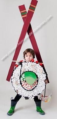 Diy do it yourself baby costume halloween costume sushi costume by homemade sushi boy costume solutioingenieria Images