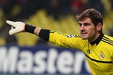 Iker Casillas--goal keeper for Real Madrid and the Spanish National team