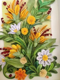 Quilling Wall Art. Quilling Flower Art. by BeautyAndJoyForYou