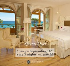 La Villa del Re, 5 star hotel in Sardinia front-sea with luxury services. Book now on our official website for the Best Price! Re Room, Luxury Services, Shabby Chic Style, Sardinia, 5 Star Hotels, Italy Travel, September, Villa, Rooms