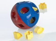 Tupperware, if you can believe it! The classic rattle and shape sorter was something both of my boys played with as babies.