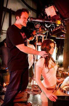 Quentin Tarantino filming