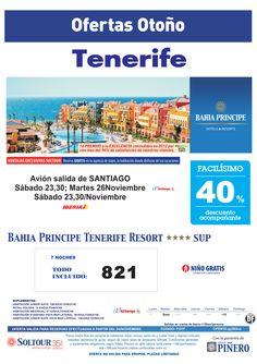 Tenerife, 40% Bahía Príncipe Tenerife Resort, salidas 23, 26 y 30 Noviembre desde Santiago de Compostela - http://zocotours.com/tenerife-40-bahia-principe-tenerife-resort-salidas-23-26-y-30-noviembre-desde-santiago-de-compostela/