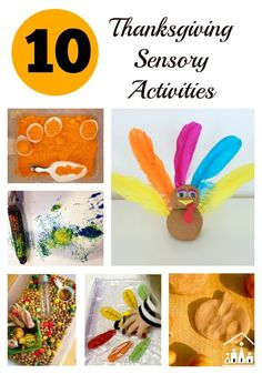 Whether you celebrate Thanksgiving Day or Harvest Day or you are just looking for a fun new sensory play activity for your kids this fall, you should find something to suit you in our Top 10 Thanksgiving Sensory Activities.e