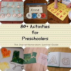 Preschool Activities shared at The Stay-at-Home-Mom Survival Guide.