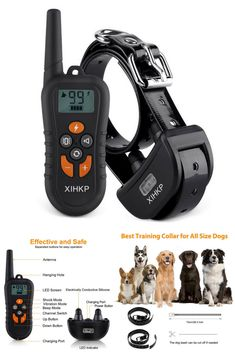 XLHLKP Dog Training Collar with Remote 500 Yards Rechargeable Dog Shock Collar 4 Modes Night Night Beep Vibration Shock Waterproof Electronic Dog Training Collar for Large Medium Small Dogs Dog Training Tools, Best Dog Training, Dog Shock Collar, Training Collar, Night Night, Small Dogs, Best Dogs, Yards, Collars