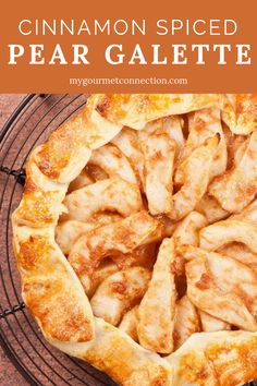 This beautiful, rustic dessert is made by forming a buttery, tart-style crust around a filling of lightly-spiced pears. Serve plain, topped with a dollop of fresh whipped cream or scoop of vanilla ice cream. Asian Pear Recipes, Pear Dessert Recipes, Fall Desserts, Fruit Recipes, Just Desserts, Jelly Recipes, Dessert Ideas, Tart Recipes, Deserts