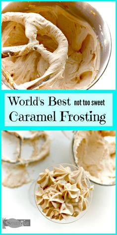 Caramel Frosting Recipe that You Can Pipe – Spinach Tiger - Cupcakes Rezepte Cake Frosting Recipe, Homemade Frosting, Cupcake Frosting, Frosting Recipes, Cupcake Recipes, Cake Filling Recipes, Cake Icing, Cream Cheese Frosting, Pasta Recipes