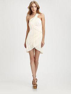 Silk One-Shoulder Dress