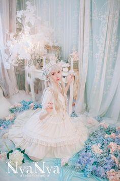 【现货】+NyaNya晨曦与月亮+四米裙摆Lolita纯色雪纺短袖OP连衣裙-淘宝网全球站