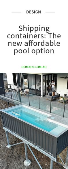 Shipping containers offering wannabe pool owners a slice of the action - Shipping Container Homes, Shipping Containers, Shipping Container Swimming Pool, Houses Architecture, Ju Jitsu, Concrete Pool, Container Buildings, Fiberglass Pools, Plunge Pool
