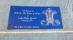 Isle of man stamps presentation pack 1981 marriage of Prince of Wales to lady Diana spencer by brianspastimes on Etsy