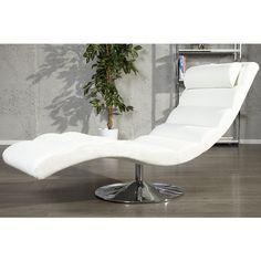 Moderne relaxstoel Relaxo wit - 19990