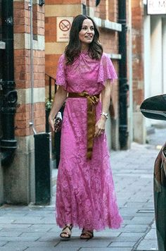 Pippa Middleton opted for a stunning pink number Second Wedding Dresses, Second Weddings, Royal Weddings, Blue Weddings, Romantic Weddings, Pippa Middleton Style, James Middleton, Pippa And James, Rainbow Wedding