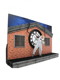 High quality Clock Tower Backdrop available to hire. View Clock Tower Backdrop details, dimensions and images. Back To The Future Party, The Future Movie, Halloween Movies, Halloween House, Halloween Ideas, Halloween Party, Back To The Furture, Homecoming Floats, Indoor Play Centre