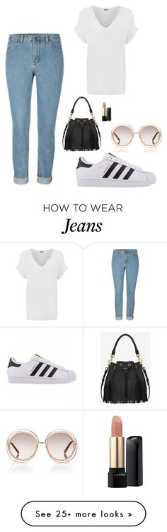 """""""Sneaks and Jeans"""" by lucyjanemoon on Polyvore featuring adidas Originals, WearAll, Yves Saint Laurent, Lancôme and Chloé"""