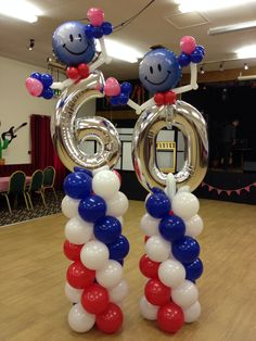 Those Funky Numbers Are At It Again PartyShop Warehouse 60th Birthday Party Ideas Balloon Column Designs