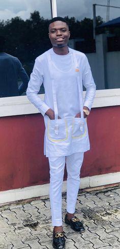 Yung Kobz Clothing African Wear Styles For Men, African Shirts For Men, African Attire For Men, African Men Fashion, Mens Fashion, Mens Sherwani, Nigerian Men, Kaftans, Men Looks
