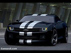 Camaro 5 black and silver