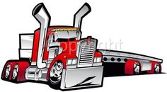 Big Rig Flatbed Cartoon | Details about Cartoon Kenworth Big Rig Flatbed Truck Hauler Tshirt ...