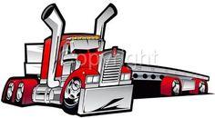 Big Rig Flatbed Cartoon | Details about Cartoon Kenworth Big Rig Flatbed Truck Hauler Tshirt ...