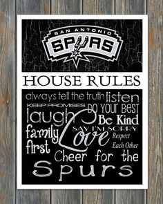 San Antonio Spurs House Rules 4x5 Fridge Magnet by HarborMagnets