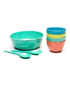 Another great find on #zulily! Tropic Confetti Salad Bowl Set by Zak Designs #zulilyfinds
