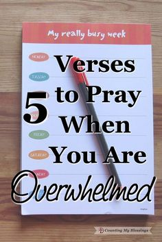 """""""Sometimes when we get overwhelmed we forget how big God is."""" ~ AW Tozer 5 Verses to Pray When You Are Overwhelmed. #overwhelmed #exhausted #verses #hope"""