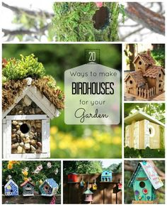 DIY Garden and Crafts - Make birdhouses for Garden (20 Ideas)