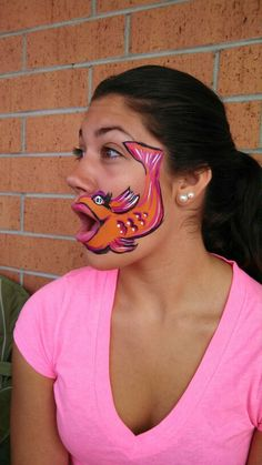 Fishy face paint