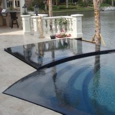 Swimming pool edges made from porcelain tile allowing for a ...