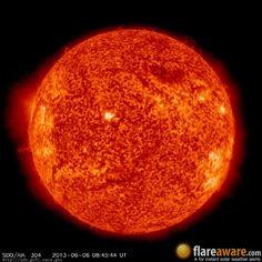 The hourly sun (at 08:45 am  UTC on  6 June 2013)