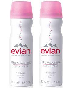 evian Mineral Water Facial Spray Duo