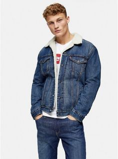 Borg Jacket, Navy Bomber Jacket, Levi Denim Jacket, Men's Coats And Jackets, Topman Jackets, Jacket Images, Harrington Jacket, Summer Jacket