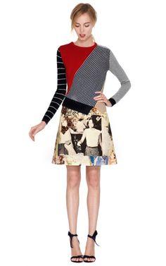 Printed Wool Canvas Skirt by Carven - Moda Operandi