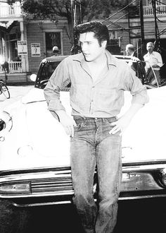 Elvis Presley on the set of Loving You, 1957.