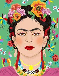 Frida Kahlo Portraits, Kahlo Paintings, Frida Art, Acrylic Paint Set, Mexican Art, Wedding Art, Diego Rivera, Animal Tattoos, Woman Painting