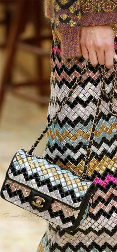 Chanel ~ Fall Quilted Leather Chevron Flap Bag 2015.