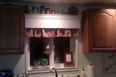 TracyP Creates: Valance Shelf above kitchen window