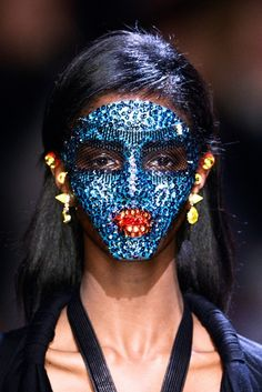 Pat McGrath's wondrous sequin masks, which she created for Givenchy's S/S 14 collection