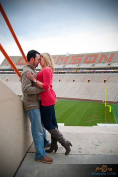 {Real Engagement} Jessica + Rett by Famzing Photography & Video | Clemson University Engagement Shoot in the fall... OMG THIS IS MY COUSIN .. Shaws show up everywhere
